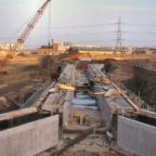 050 LUCS V1080 Construction of Scott Russell aqueduct over by-pass 1986