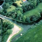 104 LUCS V1229 Aerial view east end Almond Aqueduct