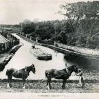 104 LUCS H0056 Horses and barge at Almond Aqueduct